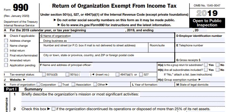 IRS 990 Form