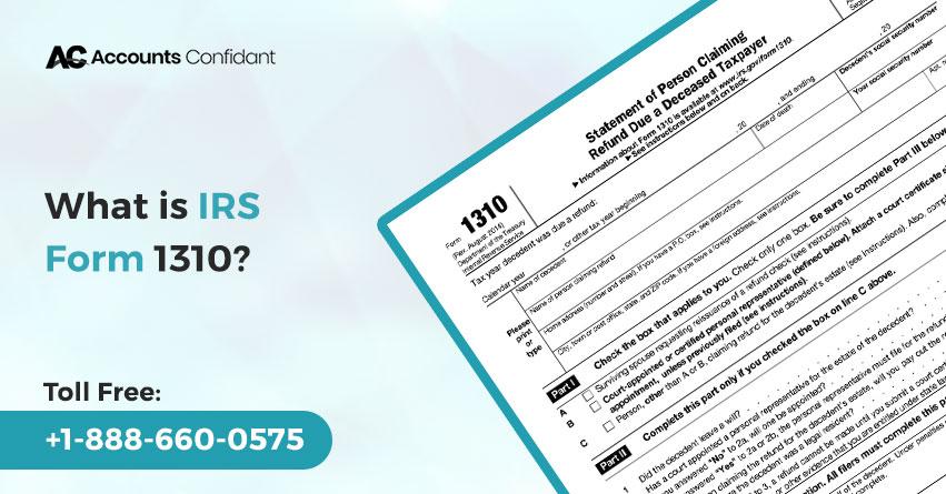 IRS Form 1310